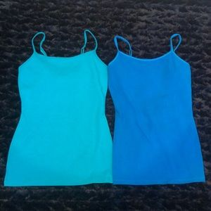 2 Express Lined Camis Camisole Bra Tops